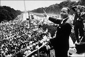 Reverend Dr. Martin Luther King Jr., at the March on Washington for Jobs and Freedom