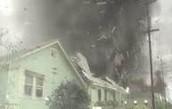 2nd the tornado wrecks houses and land.