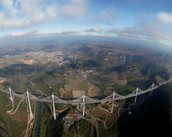Ariel view of The Millau Viaduct