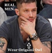 Real Men Wear Origami Owl Lockets