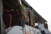 צד האוטובוס שנפגע
