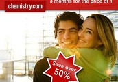 Simply choose The Chemistry Coupon to SAVE MONEY at Chemistry.com