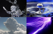 Pictures of Plasma, Gas, Solid and Liquids