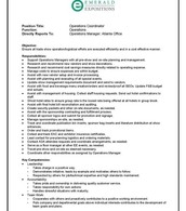 Operations Coordinator Position pg. 1