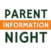 Parent Information Night (formerly Meet the Teacher Night)