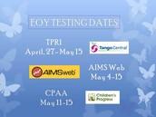 EOY Testing Dates