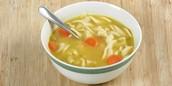 La sopa de pollo $2.75