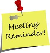 Teacher Meeting on Wednesday