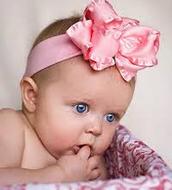 Lovely Pink Baby Headband