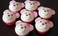 bear in sweet cupcake
