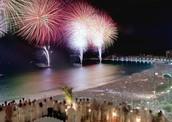 Fireworks during the celebration.