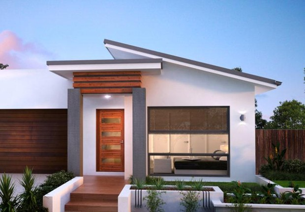 Skillion roof design homes home review co for Skillion roof house plans