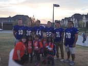 Frisco Football helps us on walk to school day.