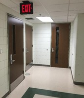 The Finished Doors in the Hallway