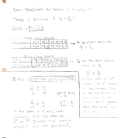 Extra Notes/Work Page 1
