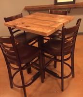 Bar top table and bar stools