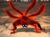 Nine tailed fox inside of Naruto