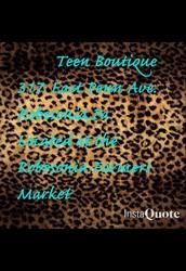 Contact Teen Boutique !