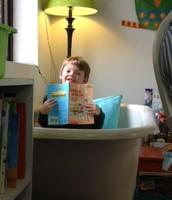 Reading in the bathtub!