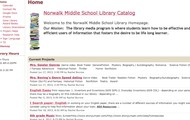Middle School Library Webpage