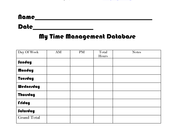 My Time Management Database