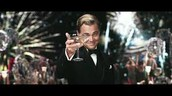 Gatsby toasting at his famous parties.