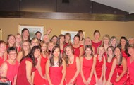 Active chapter with several alumnae at Red Dress Gala 2012