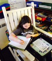 Students have seating options for Daily 5