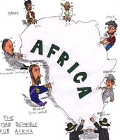 Political Cartoon for the mad scramble for africa