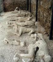 Bodies of victims in Pompeii