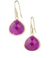 the Serenity stone earrings in rasbery