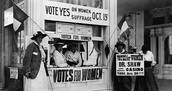 Citizens encouraging the 19th Amendment for Women's Suffrage