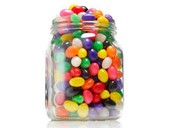 Can you ESTIMATE how many jelly beans there are in this jar?