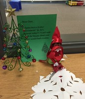 Lucy the Elf has been busy around the room!