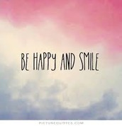 Quote on to be happy and smile
