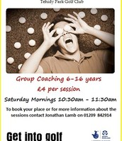 Junior Coaching Saturday Mornings