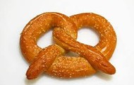 One of our home-made giant pretzels!
