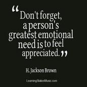 You are appreciated!