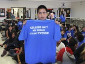 Last year students proudly wore t-shirts exclaiming COLLEGE IS THEIR FUTURE!