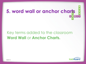 Step 5: Word Walls and Anchor Charts