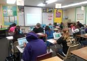 Chromebooks!  Featuring:  Ms. Ann Baker