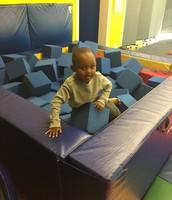 Jordan having fun in the block pit!