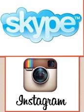 Skype and Instagram