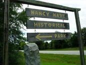 Nancy Hart monument.