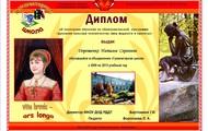 Памятный диплом Натальи Дорошенко