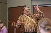 Native American Storyteller John (Two Crows) Ginart