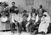 Harriet Tubman with former slaves she helped during the civil war