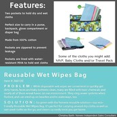 Reusable Wet Wipes Bag