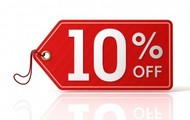 Get 10% off on your bill when you visit next time