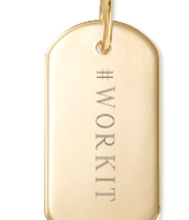 Engravable tag with #WORKIT